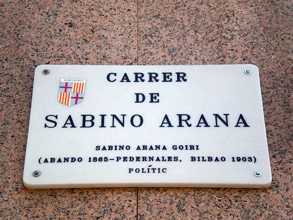 Ada colau quite la calle sabino arana de barcelona Calle sabino de arana barcelona